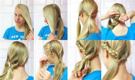 easy hairstyles for school in pakistan hairstyle tutorial side ponytail with a braid of