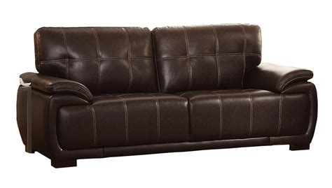 Faux Leather Sofa Set by Homelegance Alpena Sofa Set Faux Leather Brown