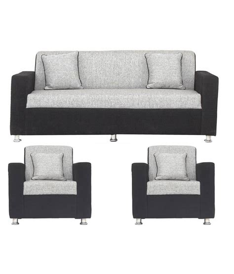 price sofa set earthwood tulip black grey 3 1 1 five seater sofa set