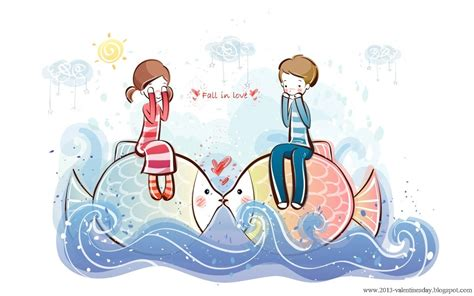 quotes cute cartoon couple love hd wallpapers