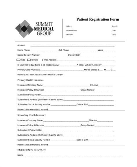 online patient registration form template typeform