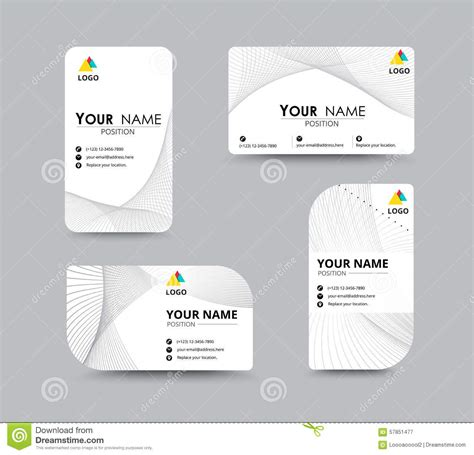 free name card design template abstract business card template with sle name position