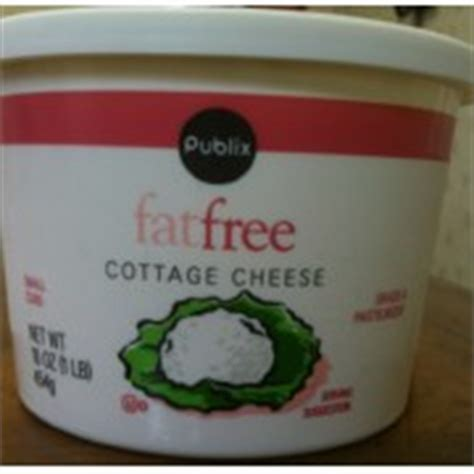 publix fatfree cottage cheese calories nutrition