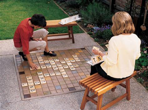 backyard scrabble garden games sunset