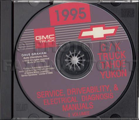 car service manuals pdf 1995 gmc yukon windshield wipe control 1995 chevy ck truck shop manuals on cd pickup cheyenne silverado suburban tahoe ebay