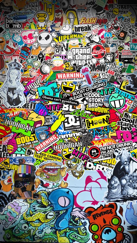 hoonigan sticker bomb the gallery for gt sticker bomb wallpaper for iphone