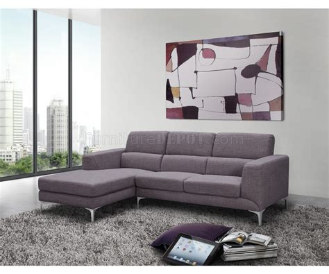sydney sectional sofa in gray fabric by whiteline