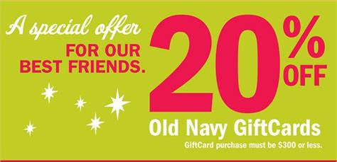 Gift Cards 20 Off - old navy ez sweatshirts 3 20 off giftcards