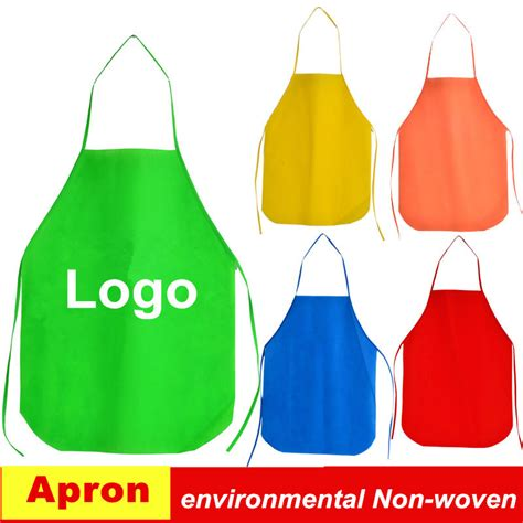 Apron Custom By Fsd Store aliexpress buy pp non woven kitchen aprons children