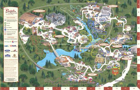 Busch Gardens Williamsburg by Busch Gardens Williamsburg Map 2011 Images