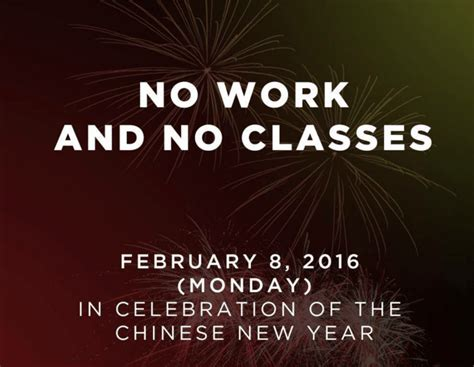 new year non working new year on february 8 2016 is special non