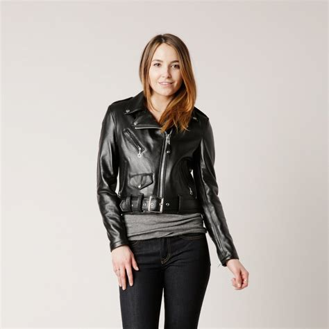 women s schott women s leather perfecto in black schott 218w