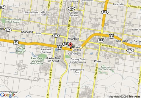 where is mcallen texas on the map map of drury suites mcallen mcallen