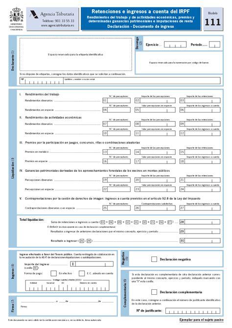 retenciones e ingresos a cuenta del irpf impresos para aut 243 nomos ser aut 243 nomo