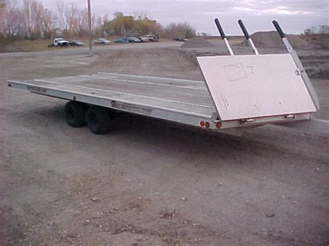 Sled Bed Trailer by New World Salvage2003 Sled Bed 4 Place Aluminum Snowmobile