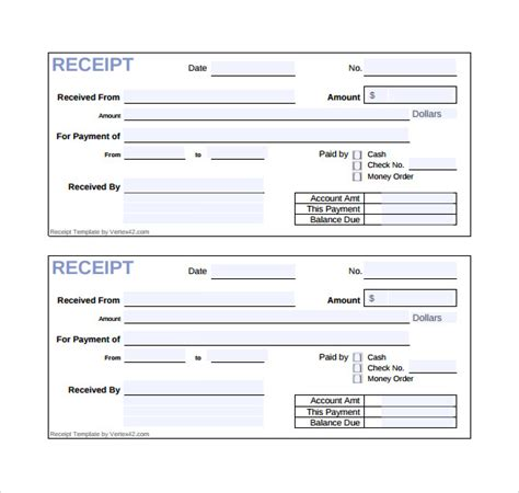 money receipt template sle receipt template 21 free documents in pdf word