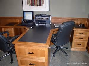 Home Office With Two Desks Custom Cherry Partner Desk Two Person Custom Made Cherr Flickr
