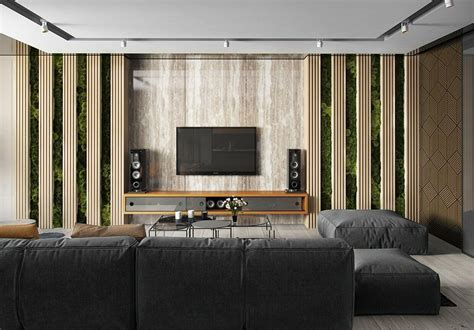 stylish led tv wall panel designs   living room