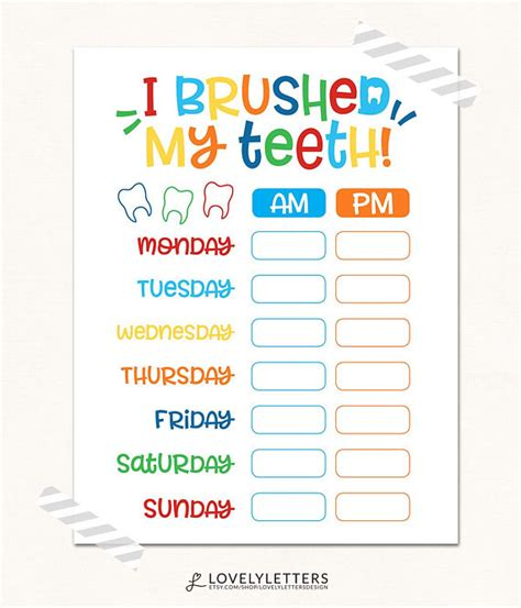 printable tooth stickers printable tooth brushing sticker chart kamos sticker