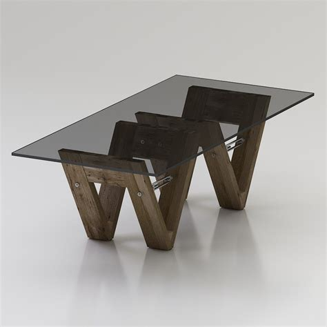 wood dining table chairs models 3d restoration hardware v form dining table high quality