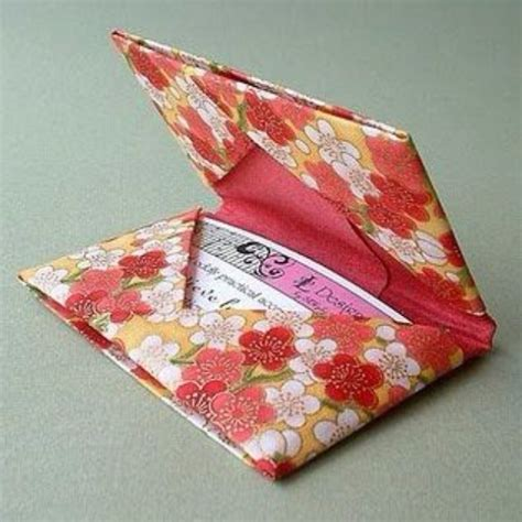 Origami Money Holder - 31 things to make with leftover wrapping paper page 7 of
