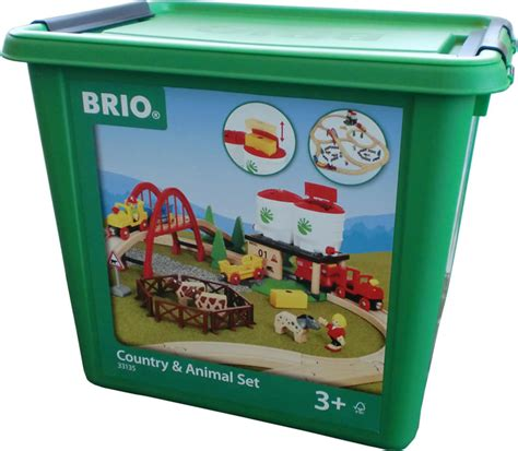 brio country railway set brio large country and animal set 33135 online at papiton