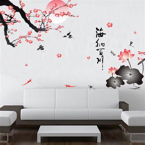Wall Stickers Home Decor Flower Birds Wall Stickers Home Decor Living Room Diy Removable Wall Sticker Bedroom