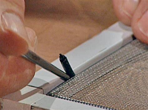 replace screen material  tos diy