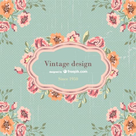 vintage template design vector free download