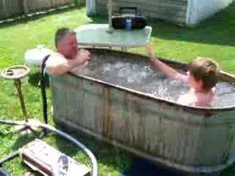 hillbilly bathtub hillbilly hot tub part 2 youtube
