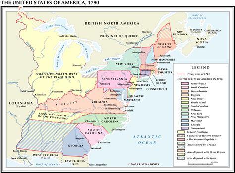 united states map 1790 usa 1790