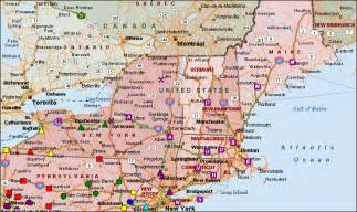 New York Pennsylvania Map by Map Of New York And Pennsylvania Map Of Blog