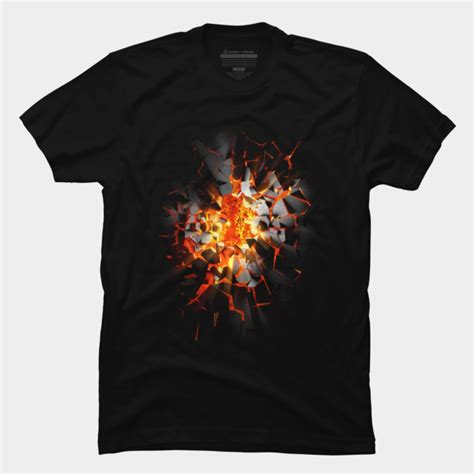 Lava Shirt by Breaking Lava T Shirt By Nukkio Design By Humans