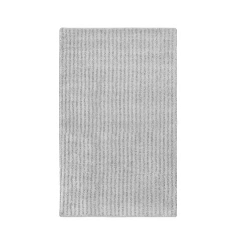 30 X 50 Kitchen Rugs Garland Rug Platinum Gray 30 In X 50 In Plush Washable Rug She 3050 07 The