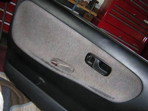 Door Panel Upholstery by 240sx Removing The S13 Door Panel Fabric