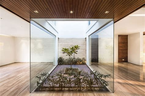 indoor courtyard a sleek modern home with indian sensibilities and an