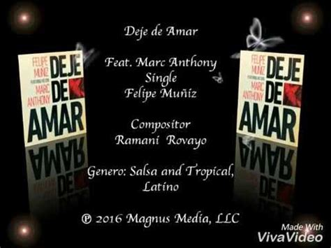 marc anthony fan club presale deje de amar felipe mu 241 237 z ft marc anthony letra chords