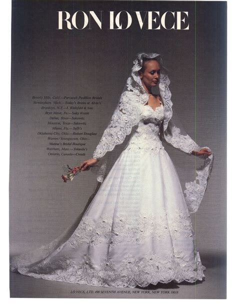 Wedding Dress Magazines by 347 Best Images About 1980 S Wedding Dress On