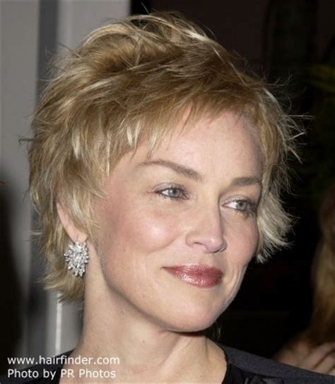 how to style sharon stones short hair style sharon stone stunning short pixie haircut with a soft