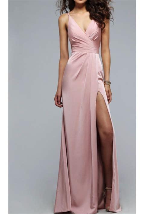 Dusty Pink Silk Satin faviana 7755 dusty pink gown silk satin dress poshare