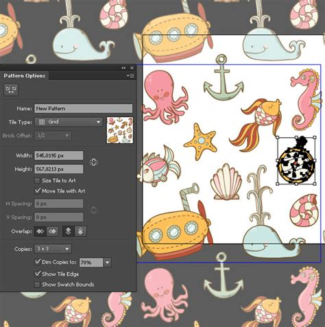 pattern options illustrator create a summer underwater seamless pattern in adobe