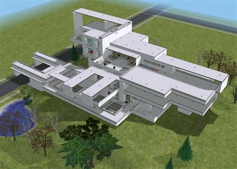 kdc buying house sims 2 ultramodern white hillside mansion by ramborocky on deviantart