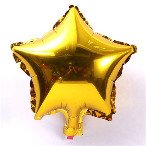 balon pesta model bintang isi 10 pcs golden jakartanotebook