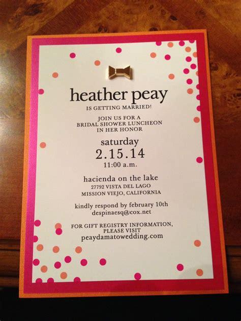 kate spade baby shower invitations bridal shower invitation kate spade inspired polka dots