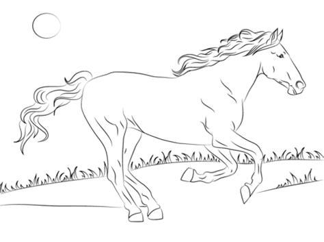 herd of horses coloring pages dibujo de hermoso caballo mustang para colorear dibujos