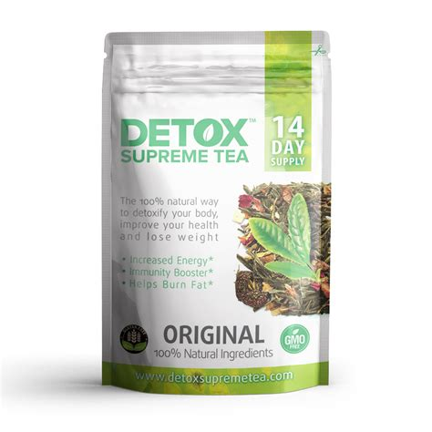 Detox Tea From by Supreme Detox Tea With Caffeine 14 Day Supply Detox