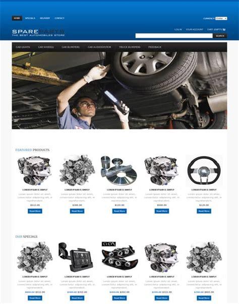 60 Fantastic Automobile Car Dealer Website Templates Auto Spare Parts Website Template Free