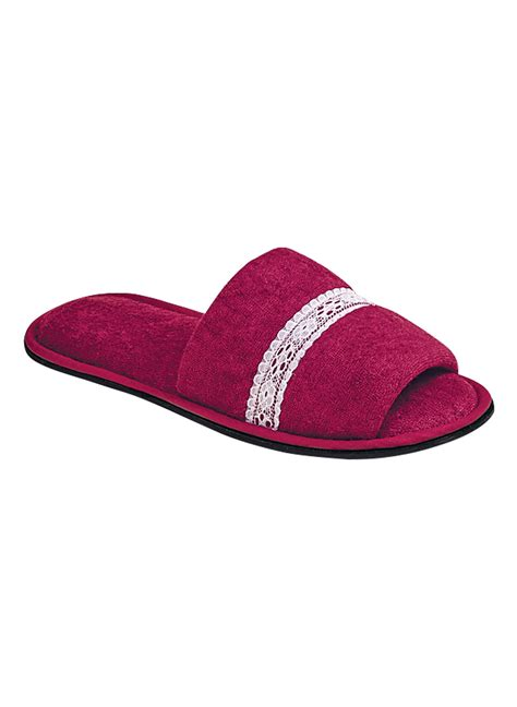 toe slippers terry open toe slipper carolwrightgifts