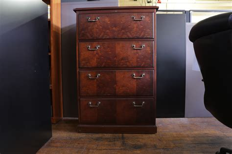 Furniture Kimball Wood 4 Drawer Lateral Filing Cabinets 4 Drawer Wood Vertical File Cabinet