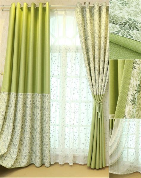botanical colors lime green botanical print color block linen country curtains